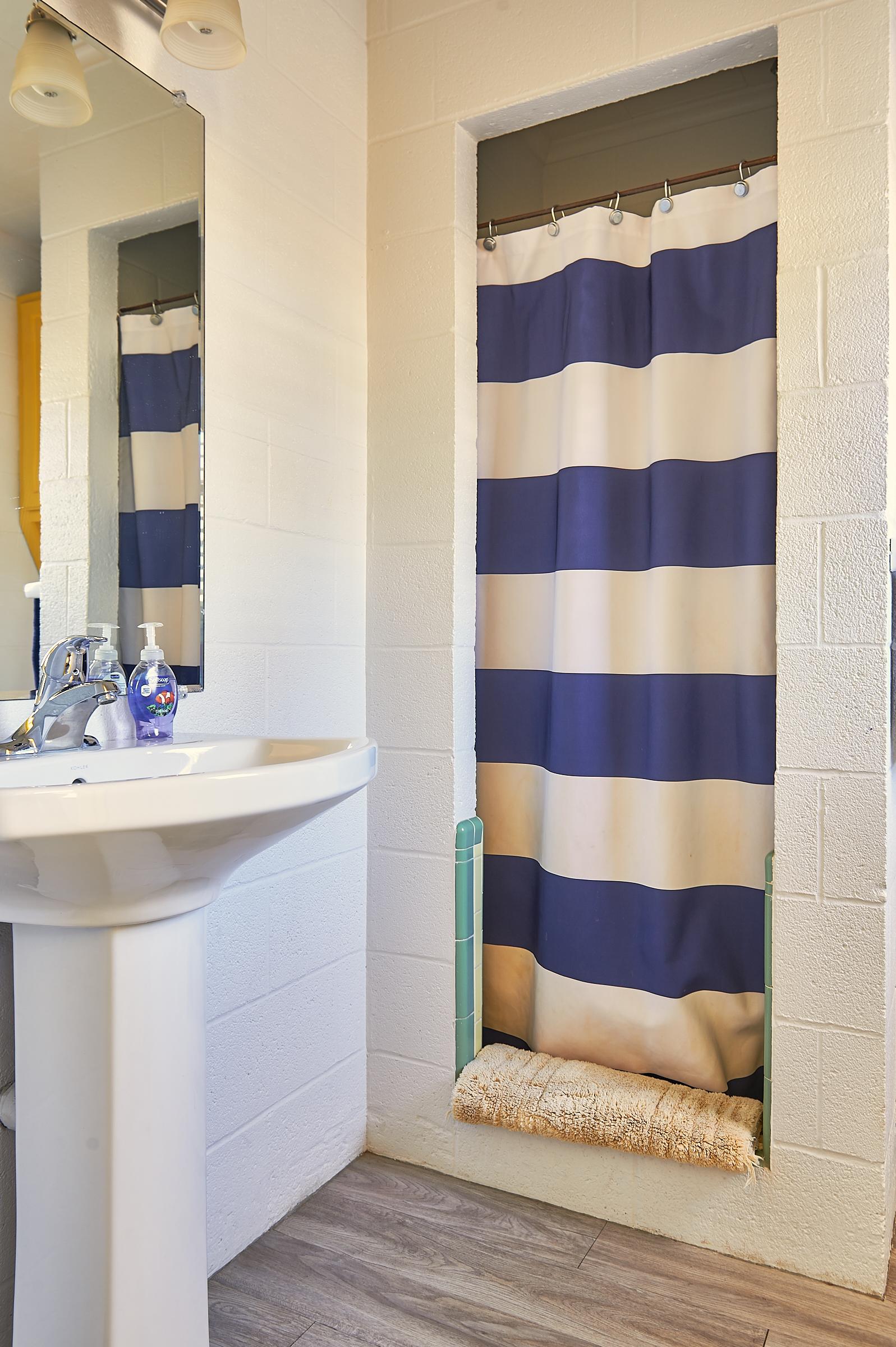 Bluebonnet Cabin Lavatory and Shower