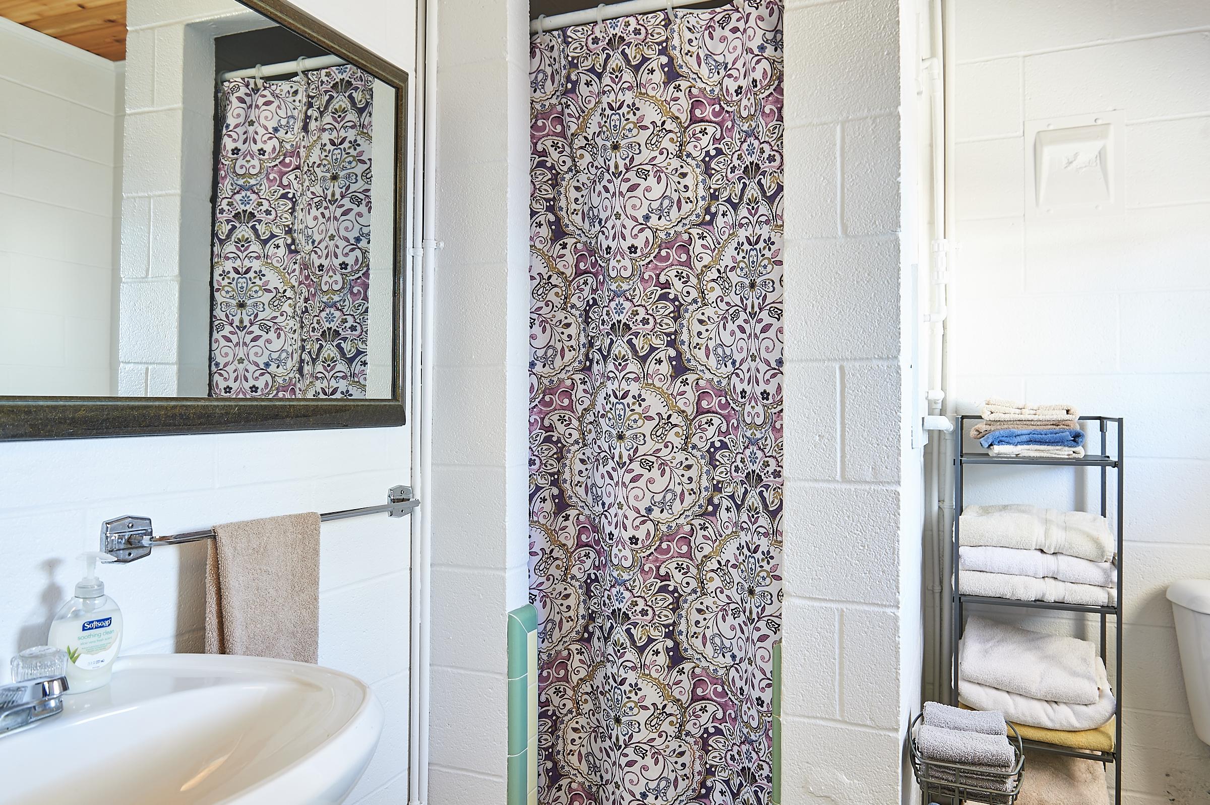 Whitetail Deer Cabin Bathroom